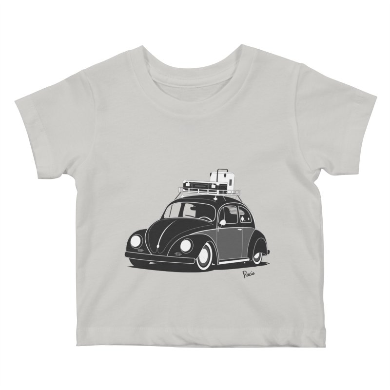 Aircooled Bug Kids Baby T-Shirt by Andrea Pacini