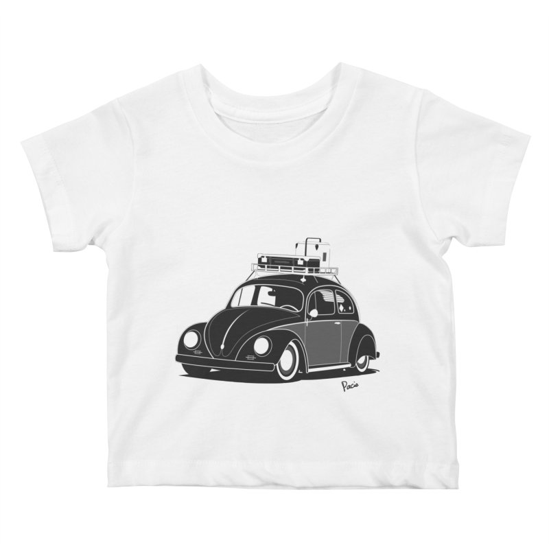 Aircooled Bug Kids Baby T-Shirt by Andrea Pacini