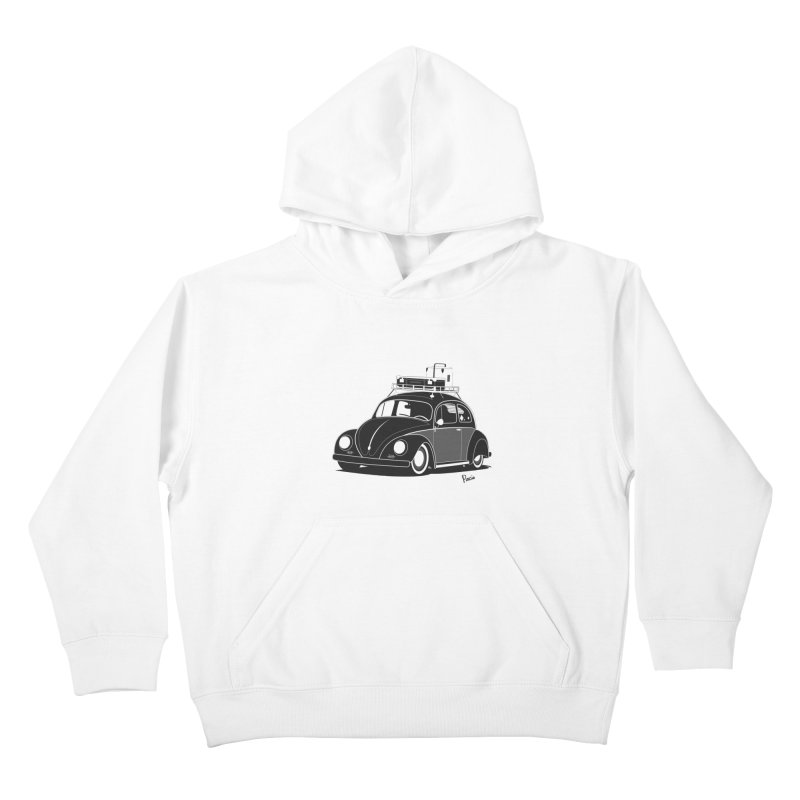 Aircooled Bug Kids Pullover Hoody by Andrea Pacini