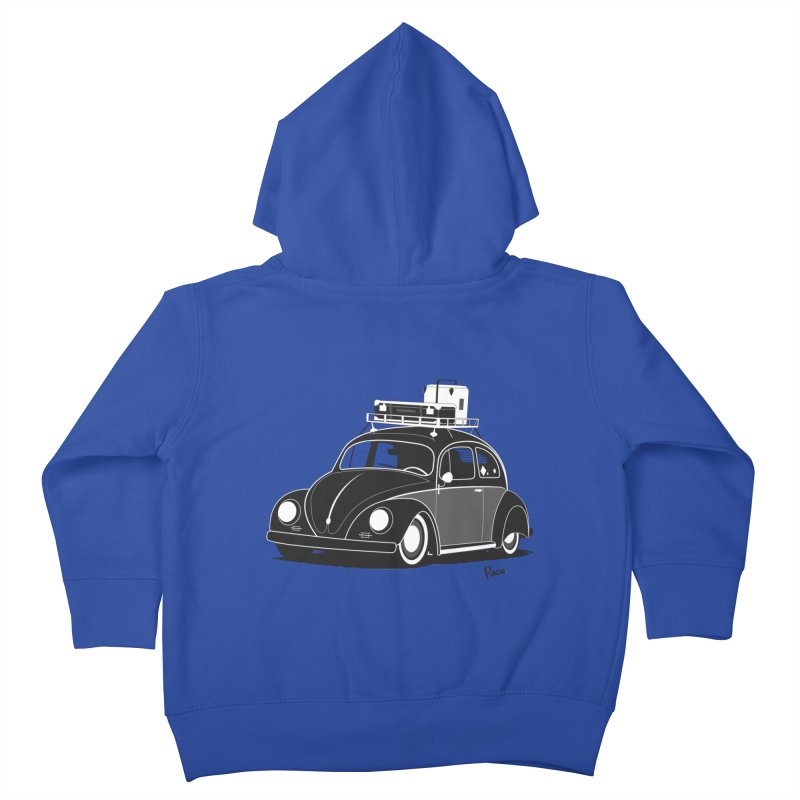 Aircooled Bug Kids Toddler Zip-Up Hoody by Andrea Pacini