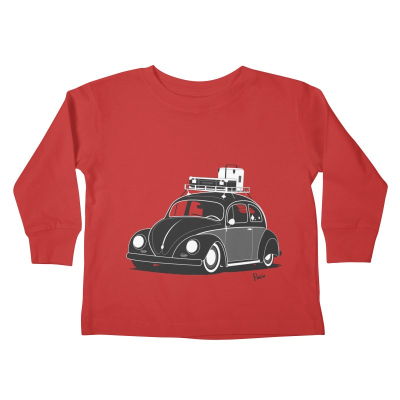 Aircooled Bug Kids Toddler Longsleeve T-Shirt by Andrea Pacini