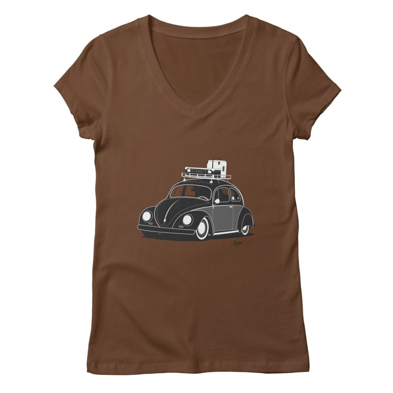Aircooled Bug Women's V-Neck by Andrea Pacini