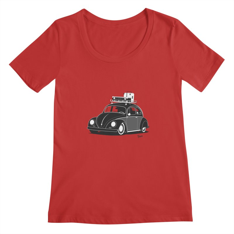 Aircooled Bug Women's Scoopneck by Andrea Pacini