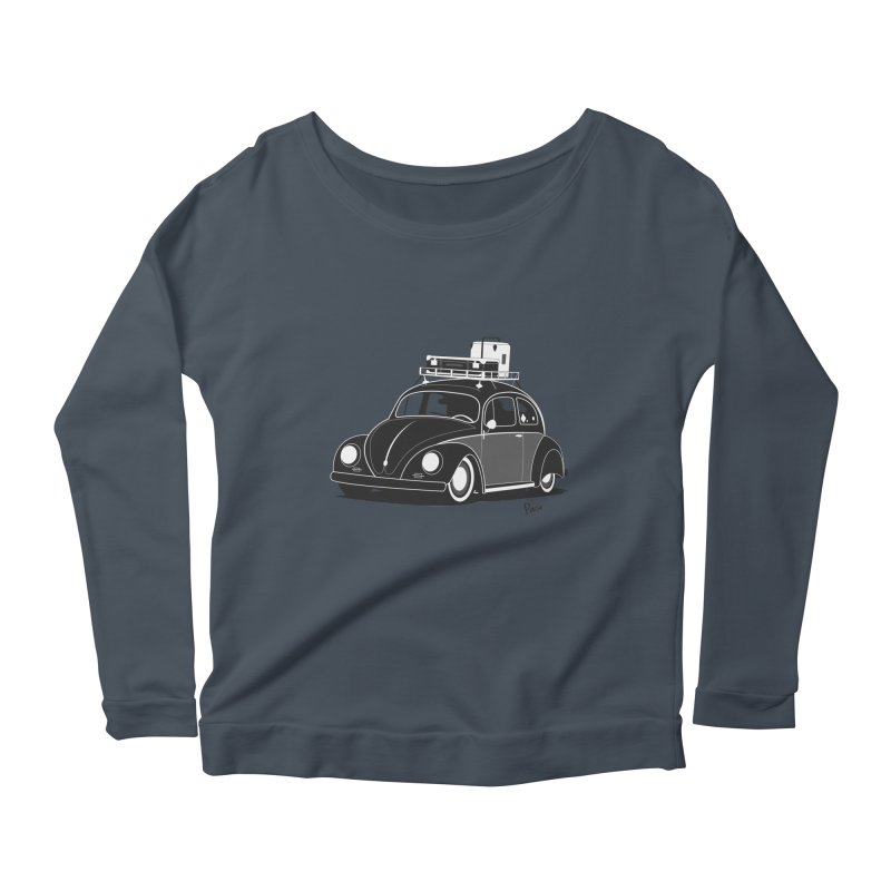 Aircooled Bug Women's Scoop Neck Longsleeve T-Shirt by Andrea Pacini