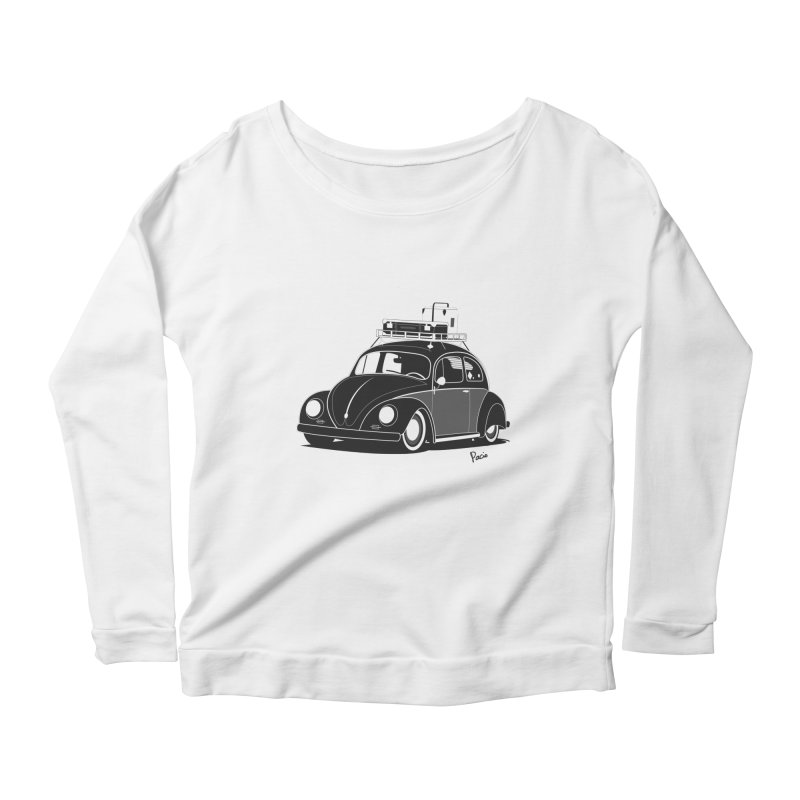 Aircooled Bug Women's Longsleeve Scoopneck  by Andrea Pacini