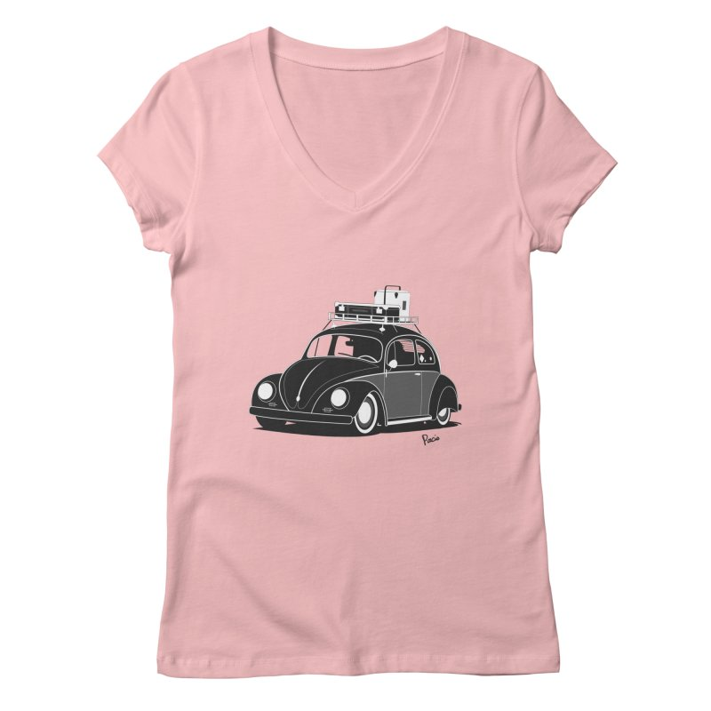 Aircooled Bug Women's Regular V-Neck by Andrea Pacini