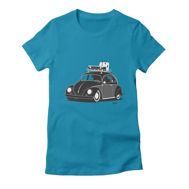 Aircooled Bug Women's Fitted T-Shirt by Andrea Pacini