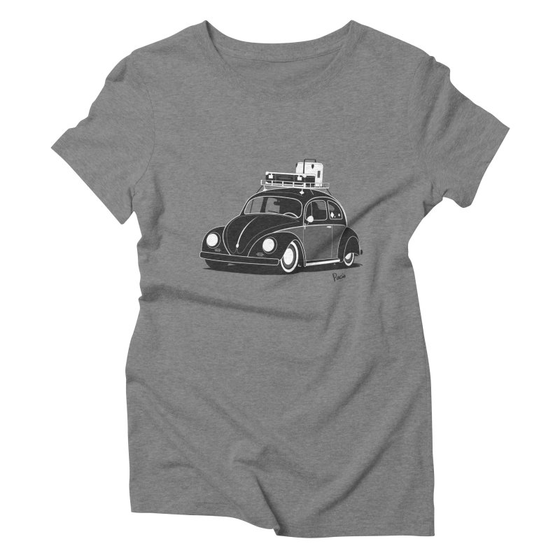 Aircooled Bug Women's Triblend T-Shirt by Andrea Pacini