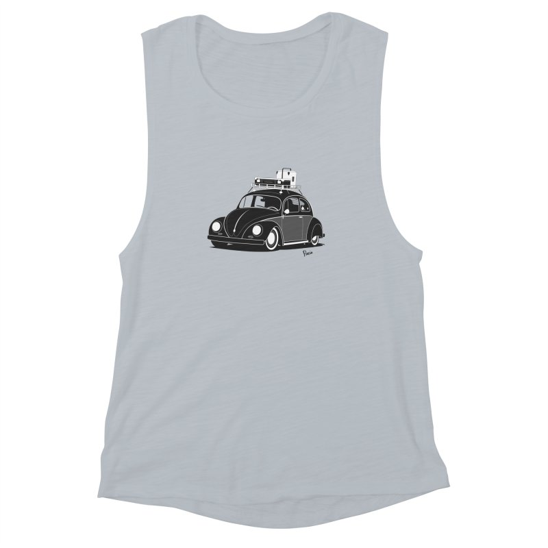 Aircooled Bug Women's Muscle Tank by Andrea Pacini