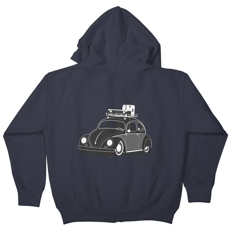 Aircooled Bug Kids Zip-Up Hoody by Andrea Pacini