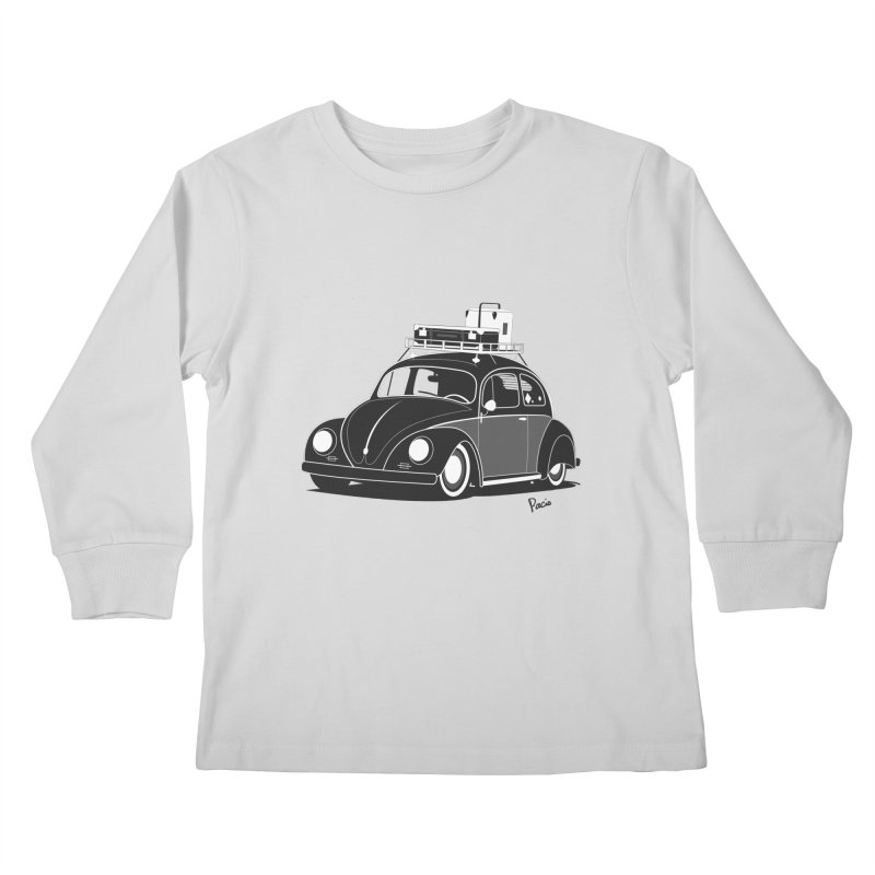 Aircooled Bug Kids Longsleeve T-Shirt by Andrea Pacini
