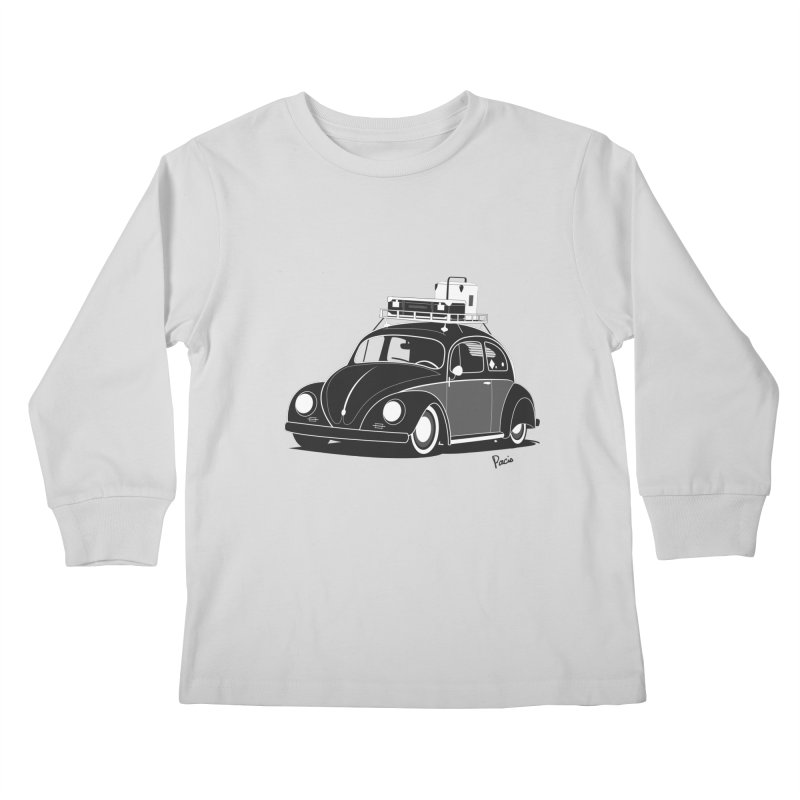 Aircooled Bug Kids Longsleeve T-Shirt by Andrea Pacini