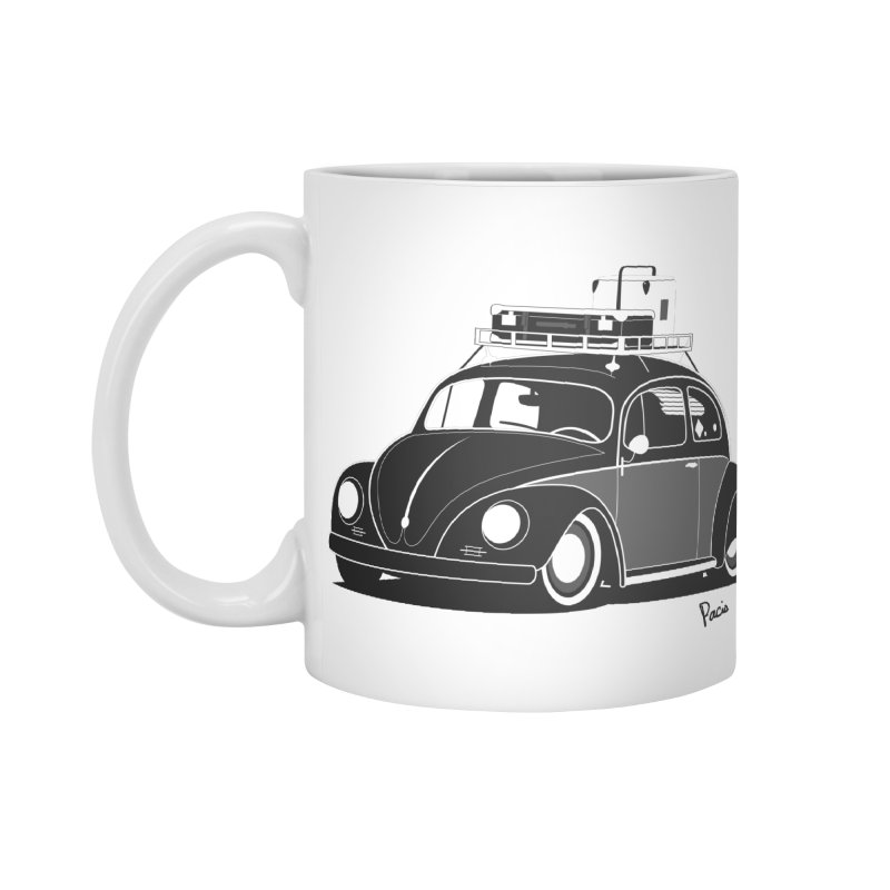 Aircooled Bug Accessories Standard Mug by Andrea Pacini