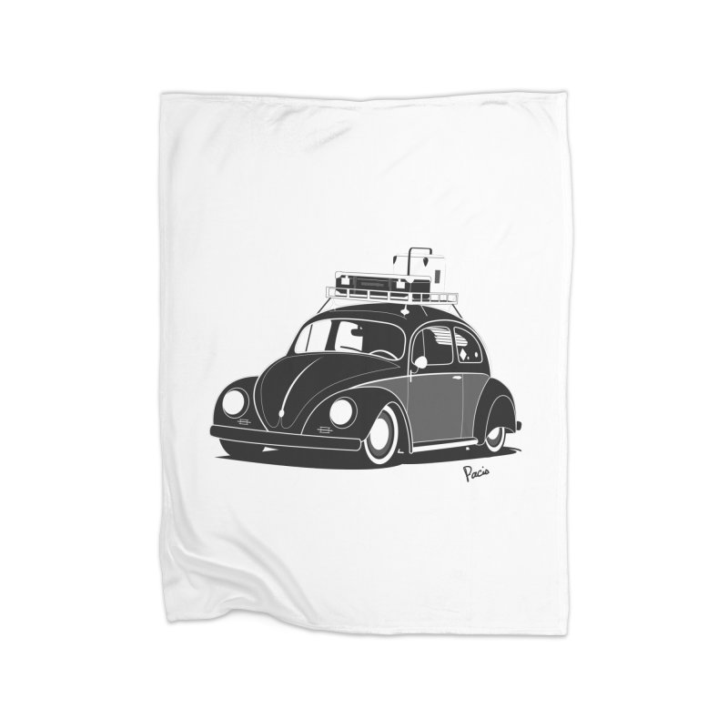 Aircooled Bug Home Blanket by Andrea Pacini