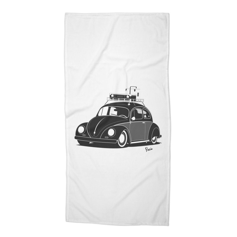Aircooled Bug Accessories Beach Towel by Andrea Pacini