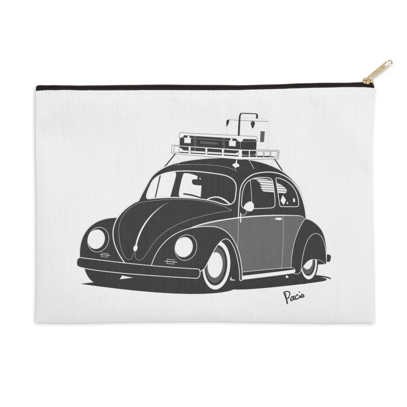 Aircooled Bug Accessories Zip Pouch by Andrea Pacini