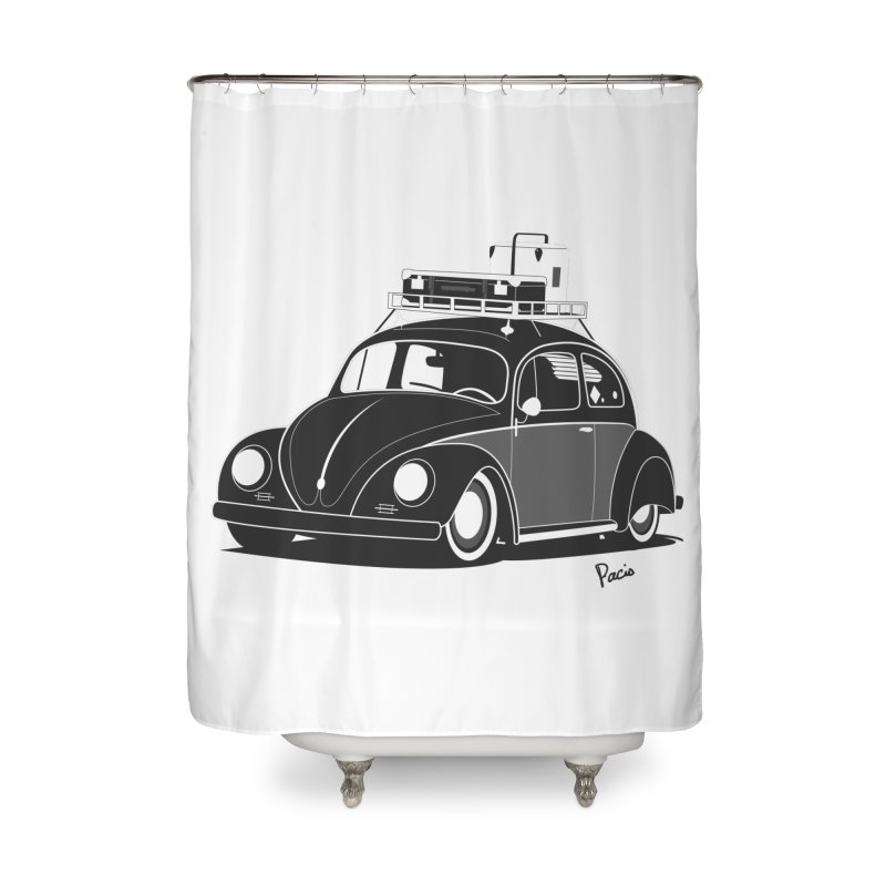 Aircooled Bug Home Shower Curtain by Andrea Pacini