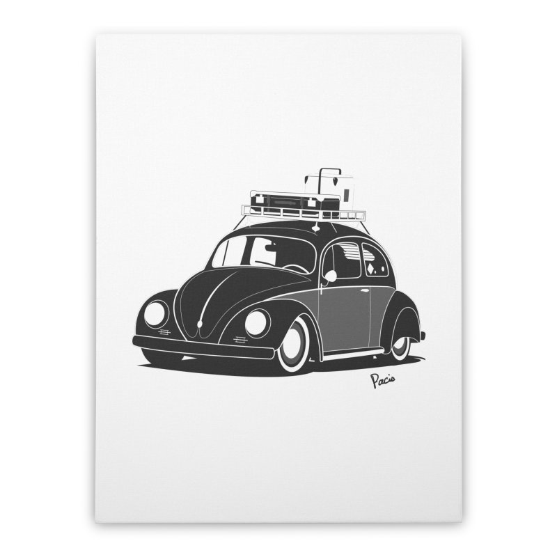 Aircooled Bug Home Stretched Canvas by Andrea Pacini