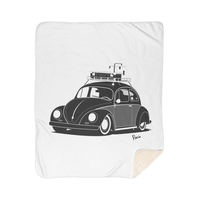Aircooled Bug Home Sherpa Blanket Blanket by Andrea Pacini