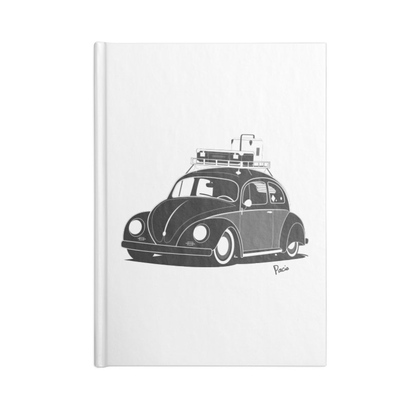 Aircooled Bug Accessories Lined Journal Notebook by Andrea Pacini