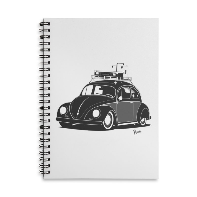 Aircooled Bug Accessories Lined Spiral Notebook by Andrea Pacini
