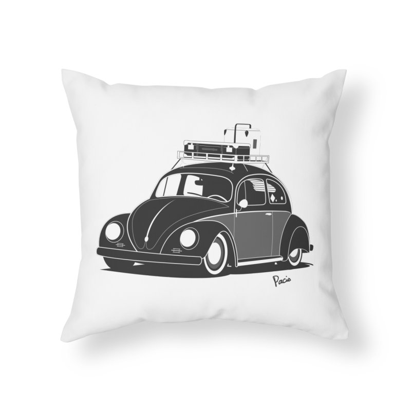 Aircooled Bug Home Throw Pillow by Andrea Pacini