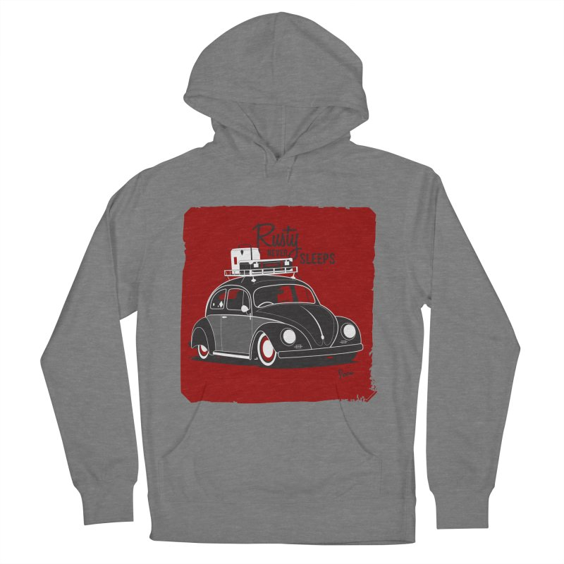 Rusty never sleeps Men's French Terry Pullover Hoody by Andrea Pacini