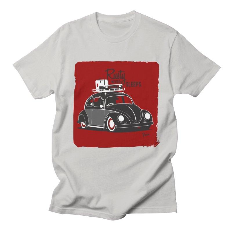Rusty never sleeps Women's Regular Unisex T-Shirt by Andrea Pacini