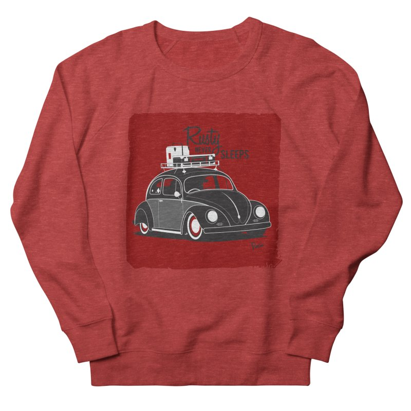 Rusty never sleeps Women's French Terry Sweatshirt by Andrea Pacini
