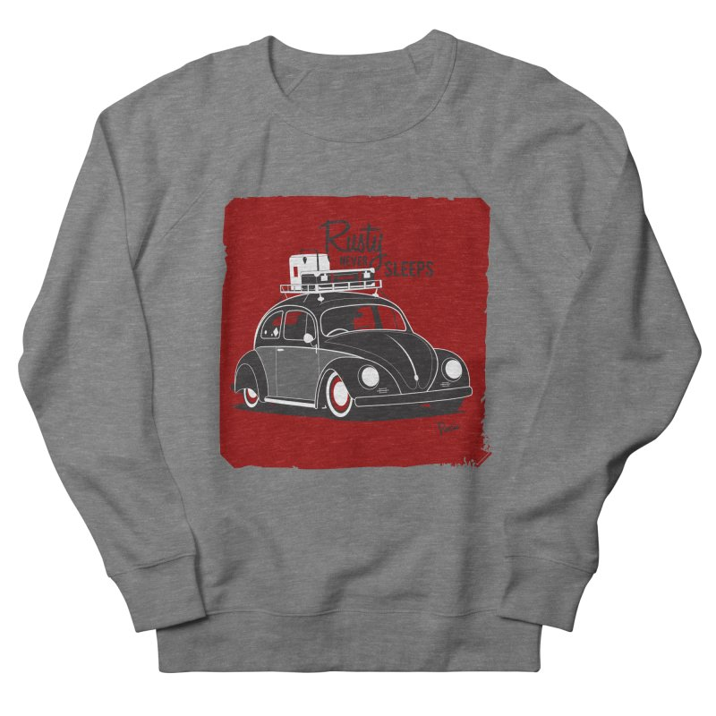 Rusty never sleeps Men's French Terry Sweatshirt by Andrea Pacini