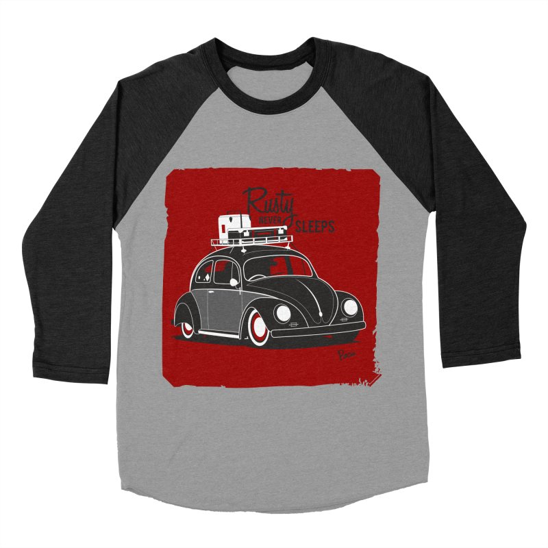 Rusty never sleeps Men's Baseball Triblend T-Shirt by Andrea Pacini