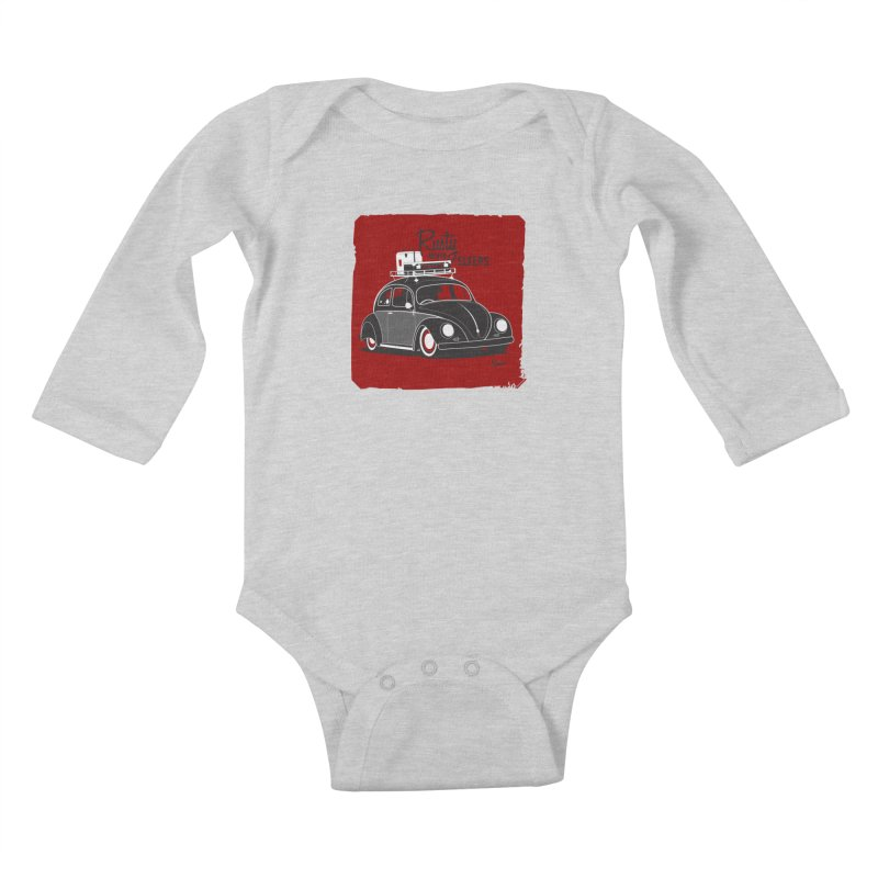 Rusty never sleeps Kids Baby Longsleeve Bodysuit by Andrea Pacini