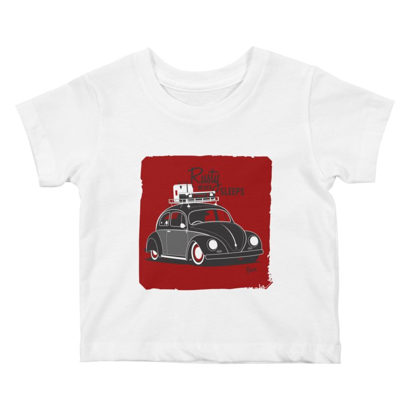 Rusty never sleeps Kids Baby T-Shirt by Andrea Pacini