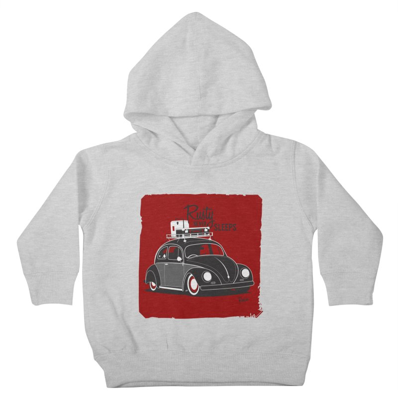 Rusty never sleeps Kids Toddler Pullover Hoody by Andrea Pacini