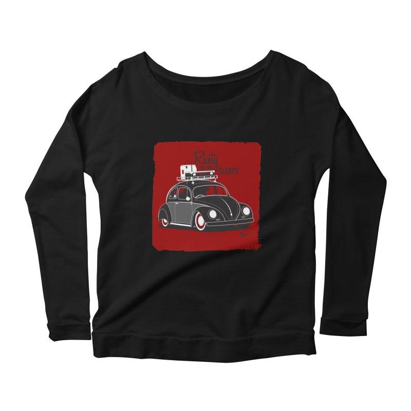 Rusty never sleeps Women's Scoop Neck Longsleeve T-Shirt by Andrea Pacini