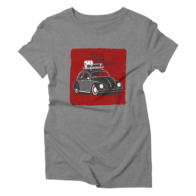 Rusty never sleeps Women's Triblend T-Shirt by Andrea Pacini
