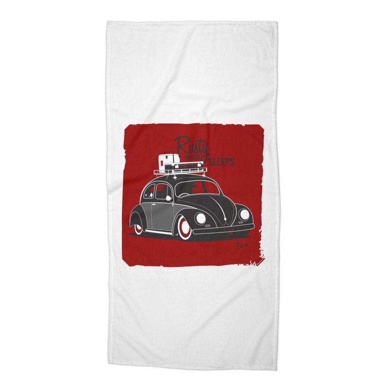 Rusty never sleeps Accessories Beach Towel by Andrea Pacini
