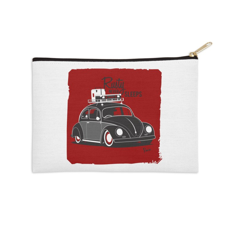 Rusty never sleeps Accessories Zip Pouch by Andrea Pacini