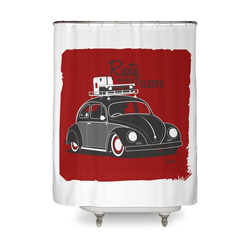 Rusty never sleeps Home Shower Curtain by Andrea Pacini