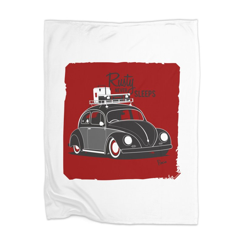 Rusty never sleeps Home Blanket by Andrea Pacini