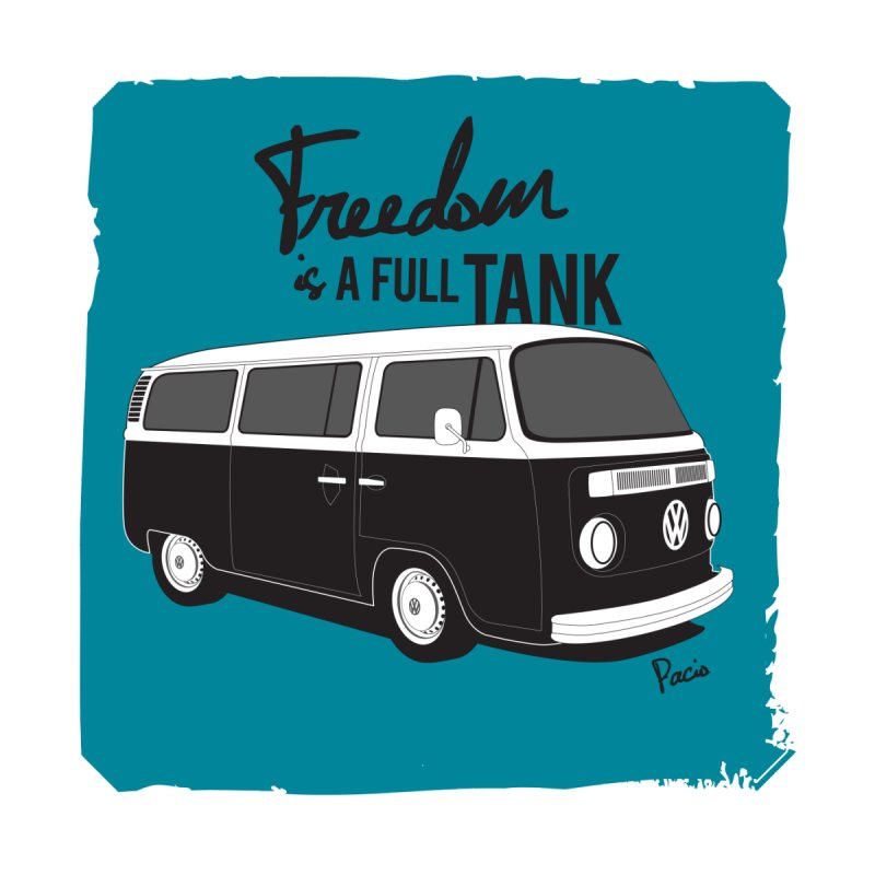 Freedom is a full tank Home Tapestry by Andrea Pacini