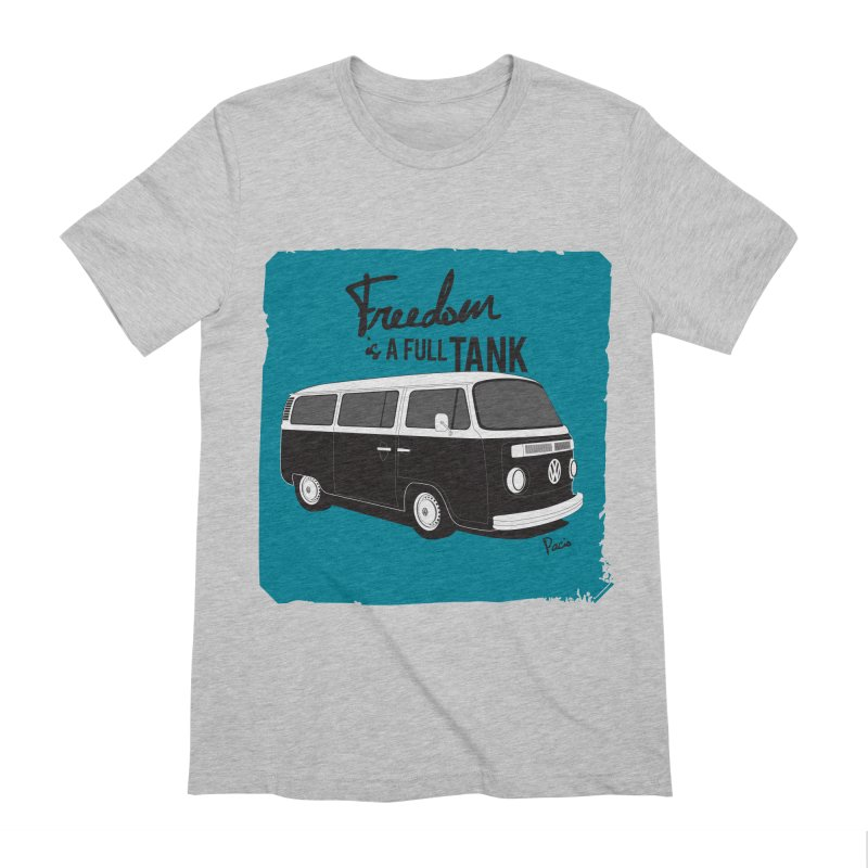 Freedom is a full tank Men's Extra Soft T-Shirt by Andrea Pacini