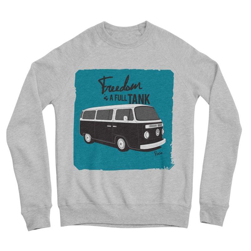 Freedom is a full tank Men's Sponge Fleece Sweatshirt by Andrea Pacini