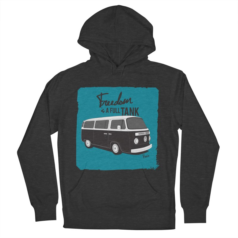 Freedom is a full tank in Men's French Terry Pullover Hoody Smoke by Andrea Pacini