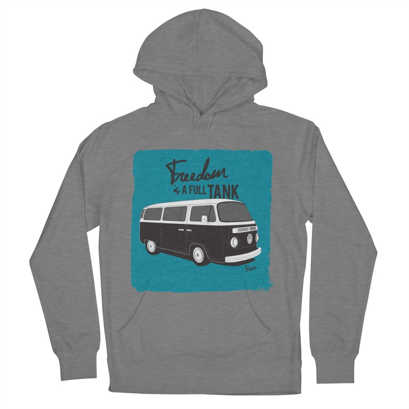 Freedom is a full tank Men's French Terry Pullover Hoody by Andrea Pacini