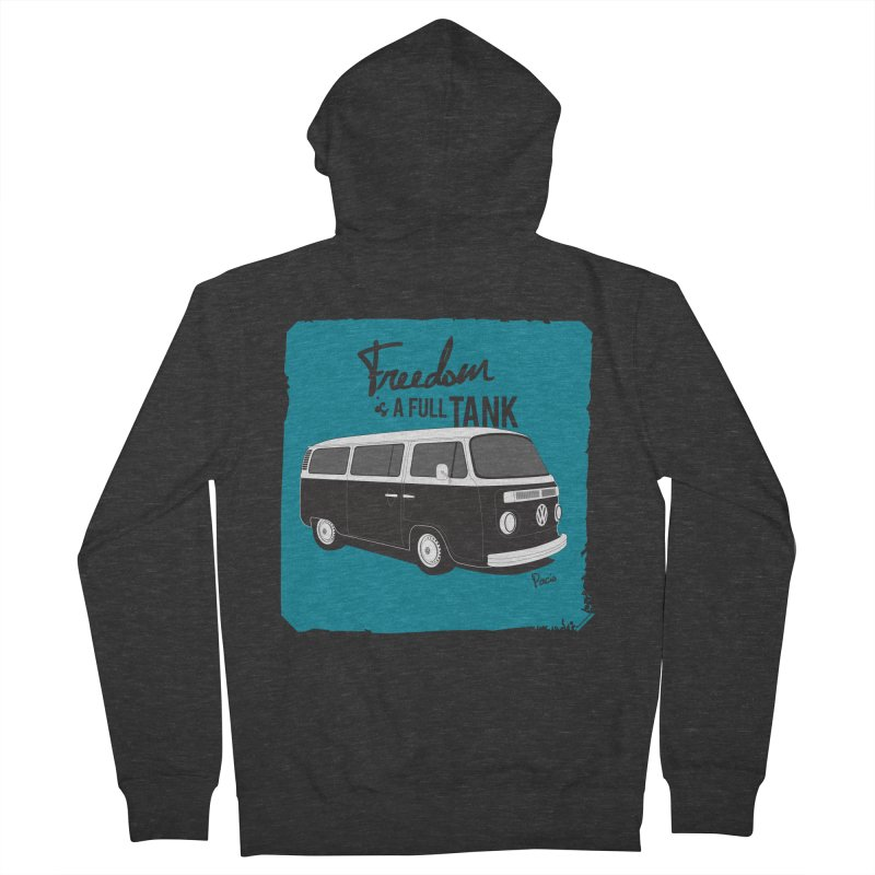 Freedom is a full tank Men's Zip-Up Hoody by Andrea Pacini