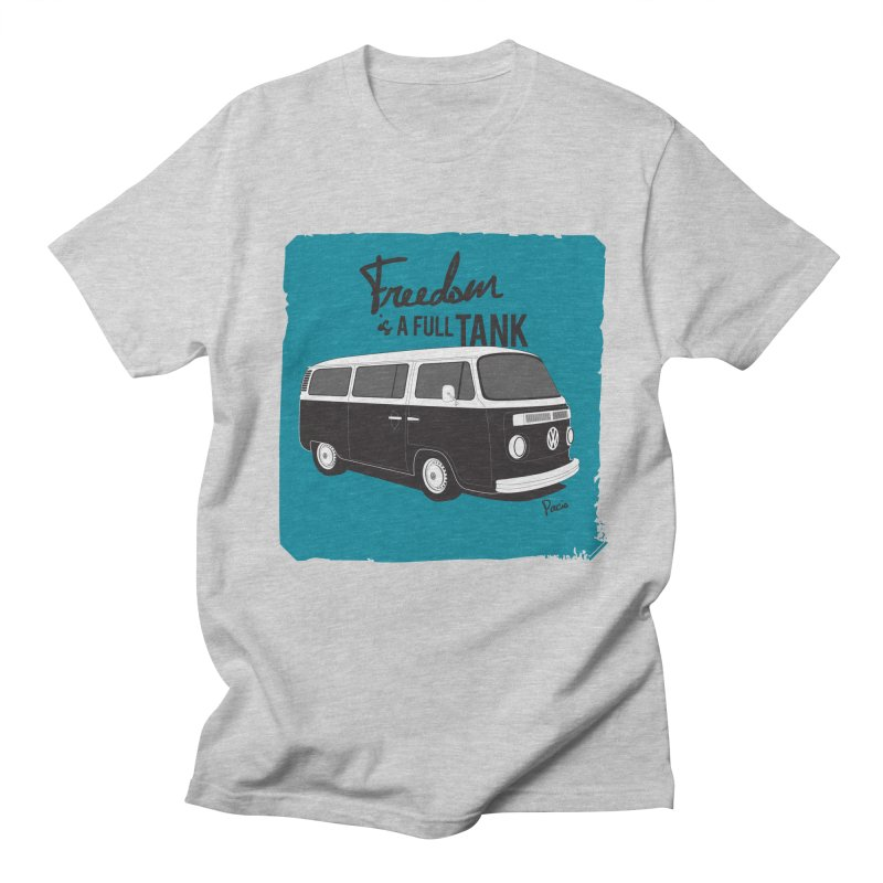 Freedom is a full tank Women's Regular Unisex T-Shirt by Andrea Pacini
