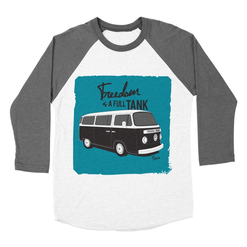 Freedom is a full tank Women's Baseball Triblend T-Shirt by Andrea Pacini