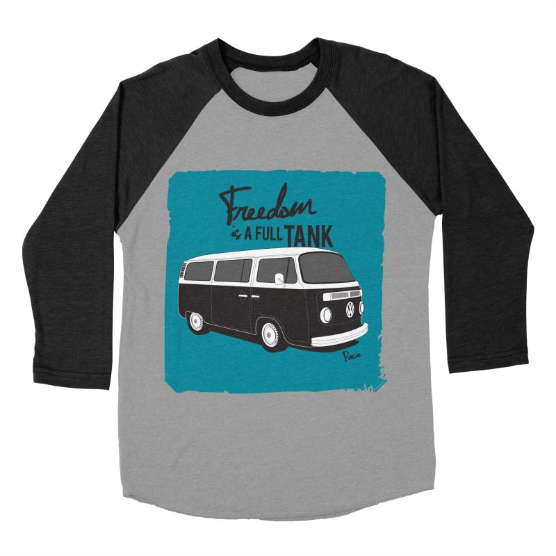 Freedom is a full tank Men's Baseball Triblend T-Shirt by Andrea Pacini