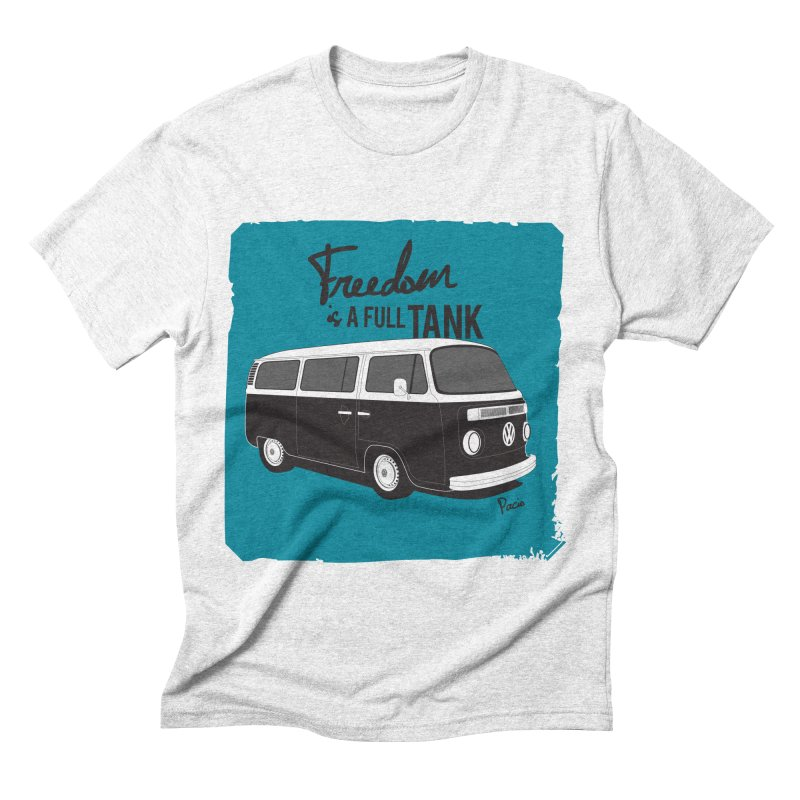 Freedom is a full tank Men's Triblend T-shirt by Andrea Pacini